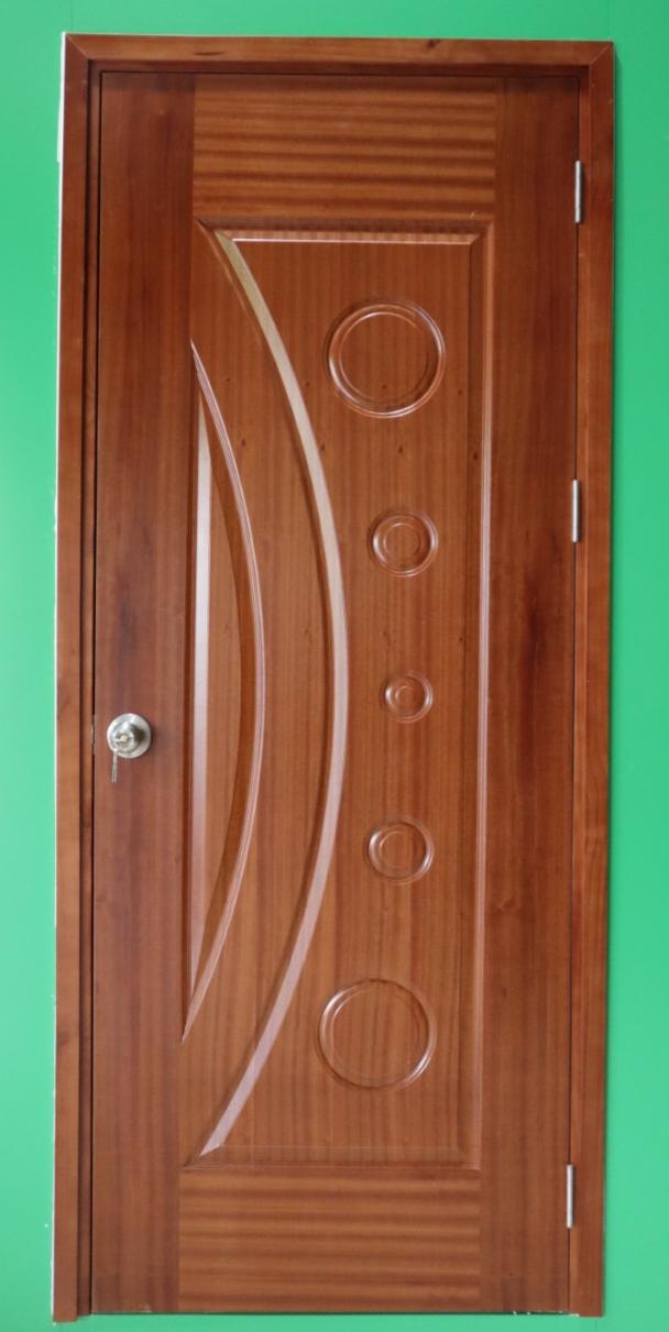 Cửa gỗ công nghiệp HDF veneer 1K - xoan đào